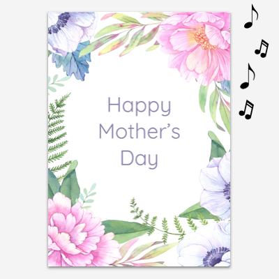 Endless Mom, Mommy, Mamma Card with glitter