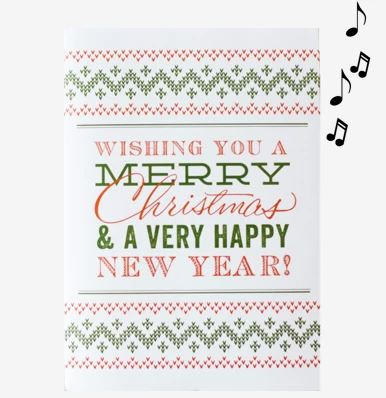 Musical Prank Holidays Card GLITTER FILLED