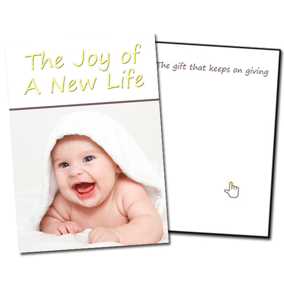 Musical Prank Baby Shower Card