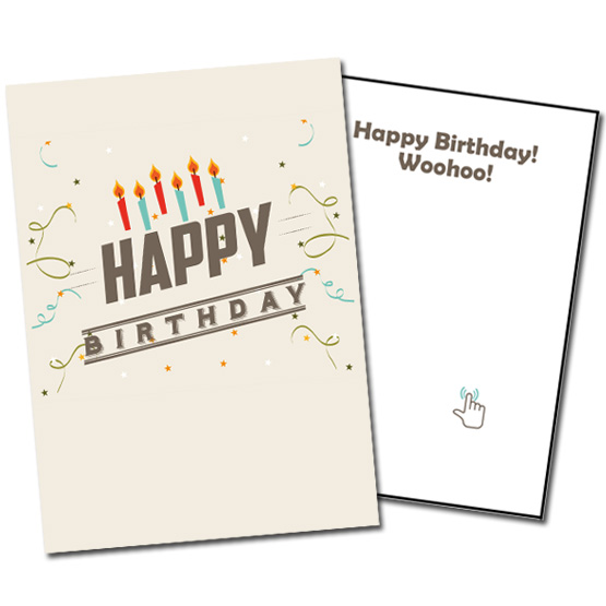 Musical Prank Birthday Card